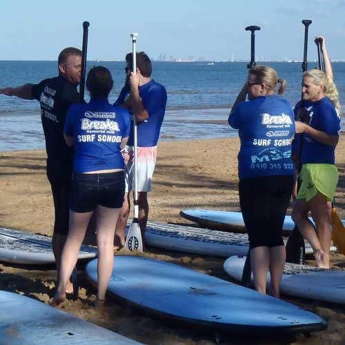 SUP Lessons for Private Groups on the Sunshine Coast